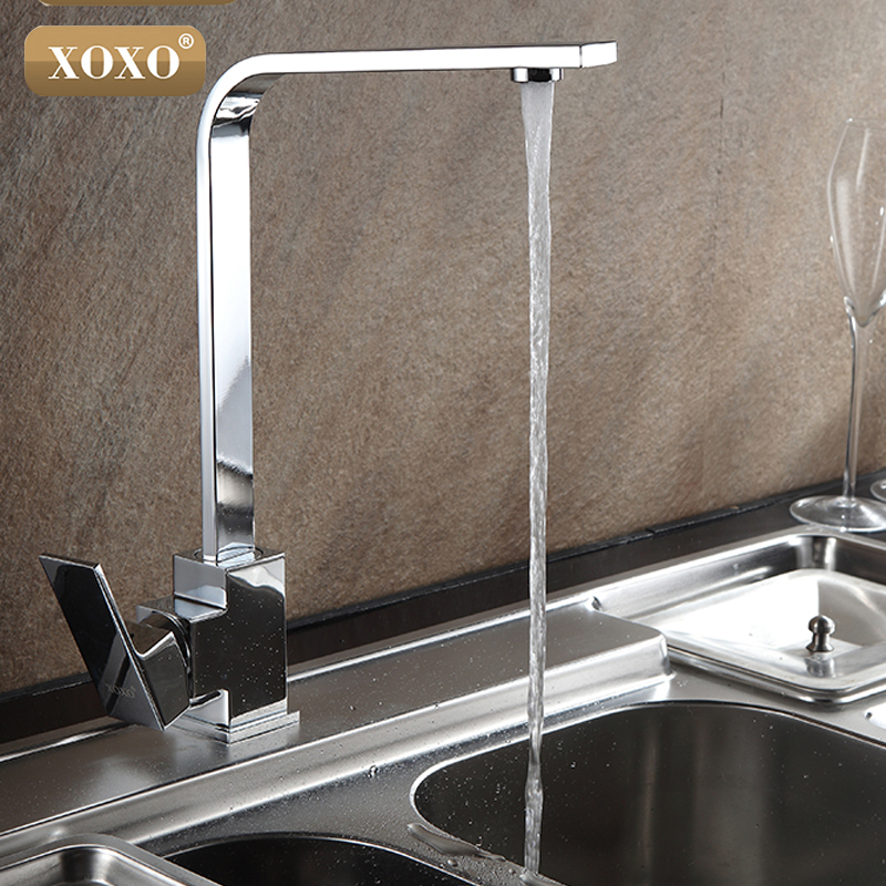 цены XOXO Free Shipping Chrome Finish Kitchen Faucet Brass Swivel Kitchen Sinks Faucet 360 degree rotating Kitchen Mixer Tap 83029-1