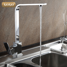 XOXO Free Shipping Chrome Finish Kitchen Faucet Brass Swivel Kitchen Sinks Faucet 360 degree rotating Kitchen Mixer Tap 83029-1