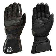 где купить 2018 REVIT Warm Waterproof Gloves Motorcycle ATV Cycling Riding Black Leather Gloves Protection Off-road riding tour long gloves по лучшей цене