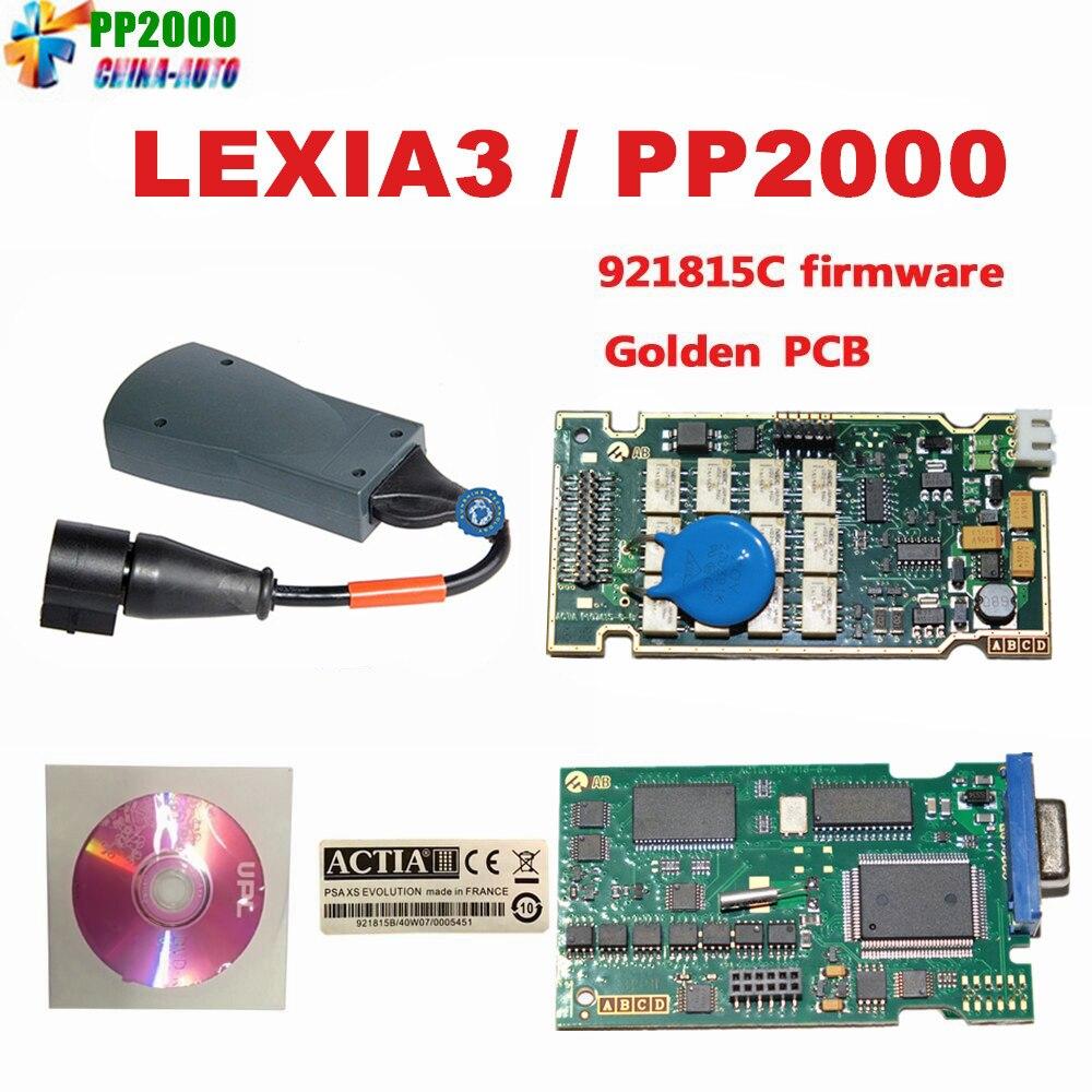Цена за Новое поступление 2017 года оригинальный Lexia 3 Lexia3 Lexia-3 PP2000 cit-бесплатная ROEN pe-UGEOT diagnsotic инструмент с Diagbox V7.83