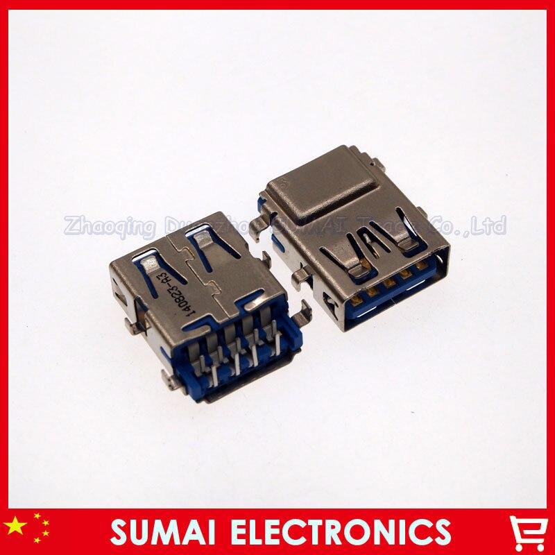 25pcs/lot Original New 3.0 USB female Jack/sockect/connector For Samsung Lenovo Asus Dell HP Laptop USB connector