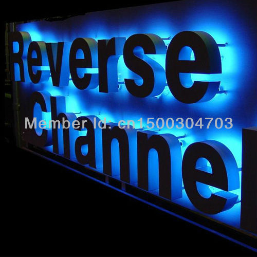 Factory Outlet Outdoor Backlit  LED Stainless Steel Letters