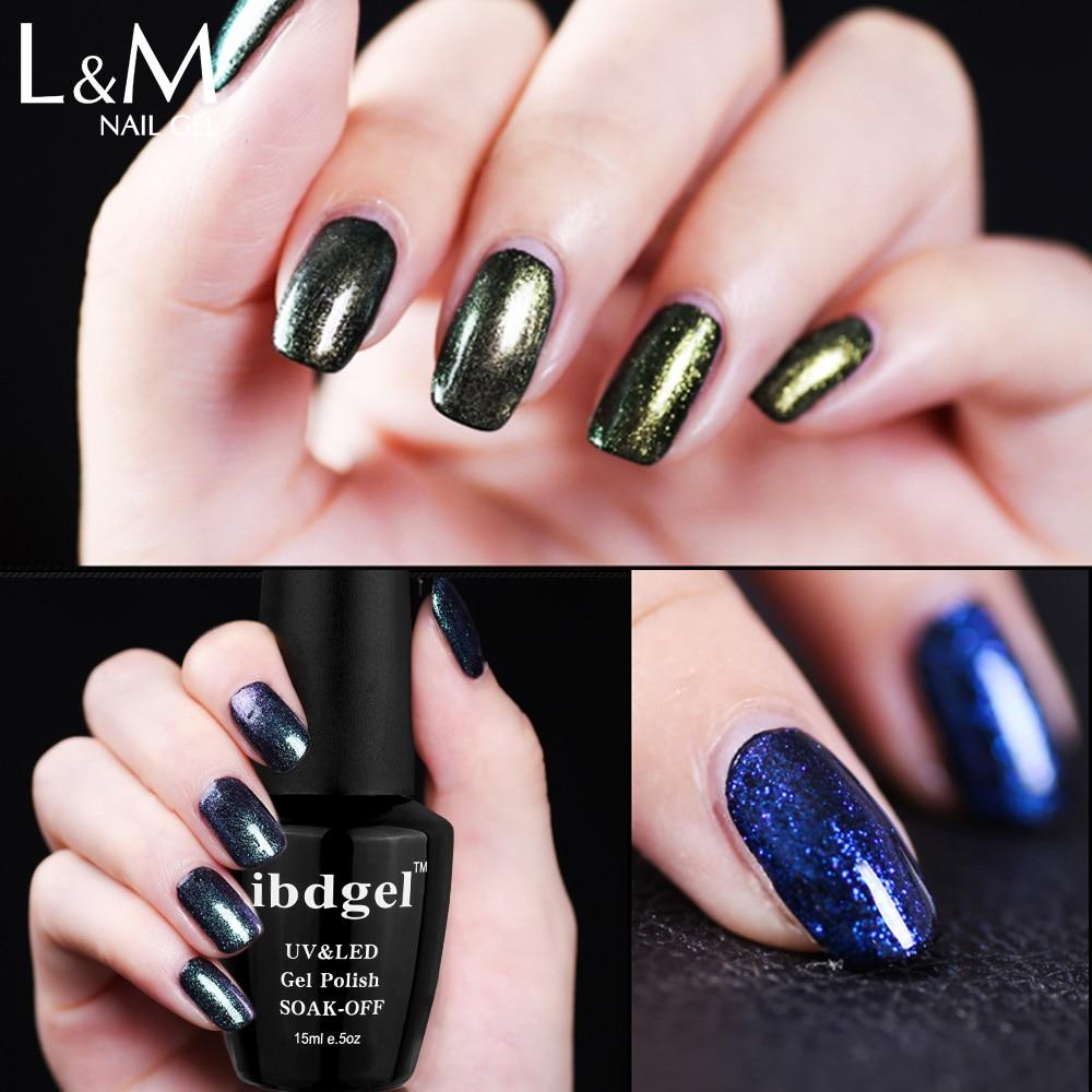 Esmalte para uñas IBDGEL Brand Chameleon (1 color negro + 9 colores - Arte de uñas - foto 1