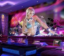 3D photo wallpaper  entertainment DJ karaoke nightclub