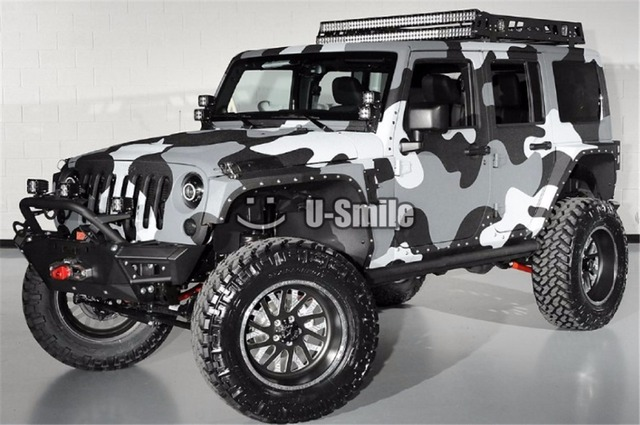 White Camo Jeep : Aliexpress buy arctic camo vinyl wrap roll snow