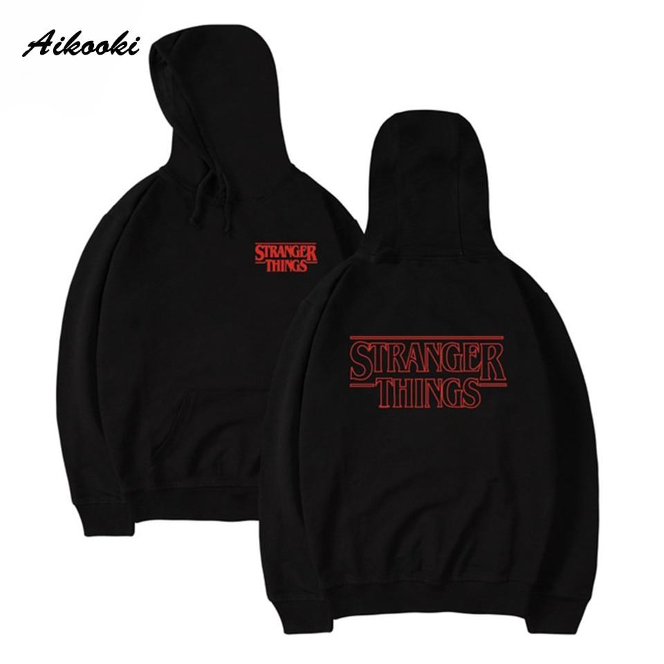 Aikooki 2018 Fashion Stranger Things Hoodies Sweatshirt Cap Clothes Sweatshirt Hoodies Men/Women Autumn Winter Hip Hop Hooded