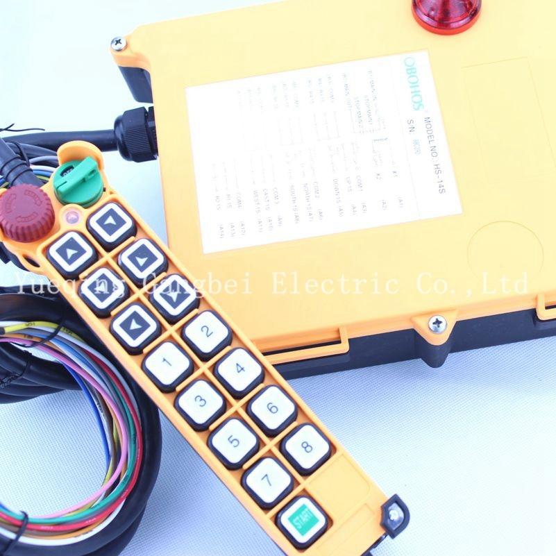 Hs 14s подъемный кран пульт дистанционного управления беспроводной радио uting дистанционный пульт 380vac 220vac 36vac 12vdc 24vdc
