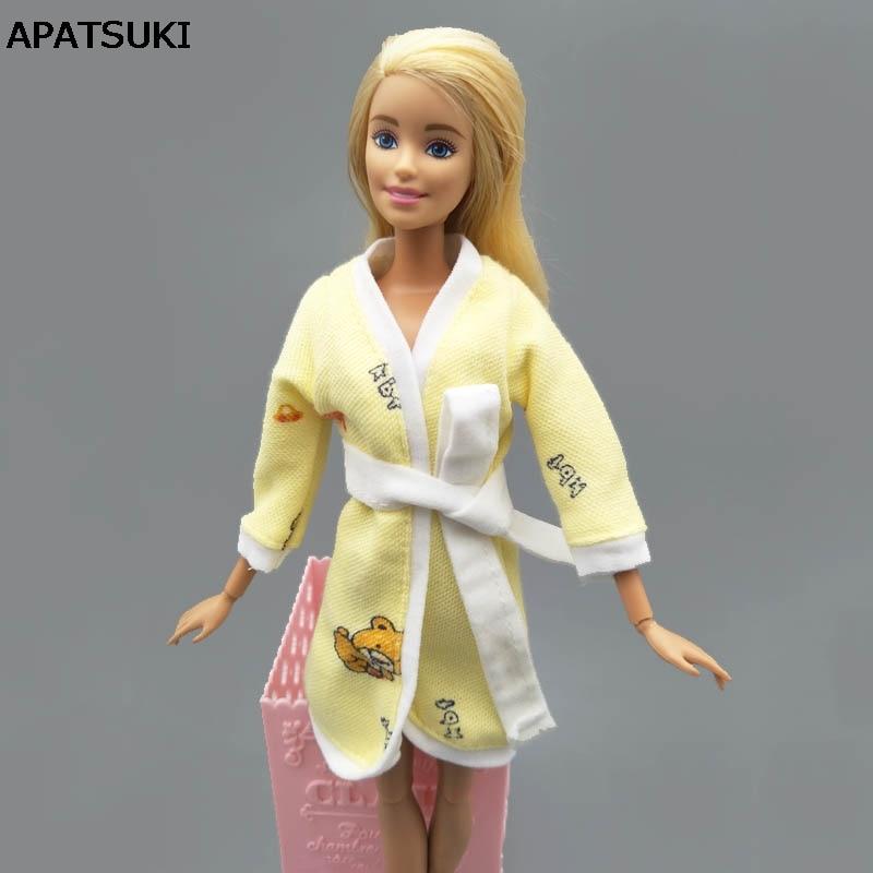 "Pink Rabbit Bathrobe For 11.5/"" 1//6 Doll Clothes Bathroom Suits Pajama Sleepwear"
