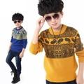 Весна и Осень пункта мальчик ребенок свитер дна рубашки тонкий свитер хеджирования большой девственный Корейский шею свитер