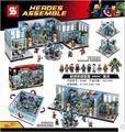 Nueva base de bloques de construcción de Juguete Edición Bricks1521pcs MOC SY368 Superhéroe The Avengers Hulk Iron Man montado regalo