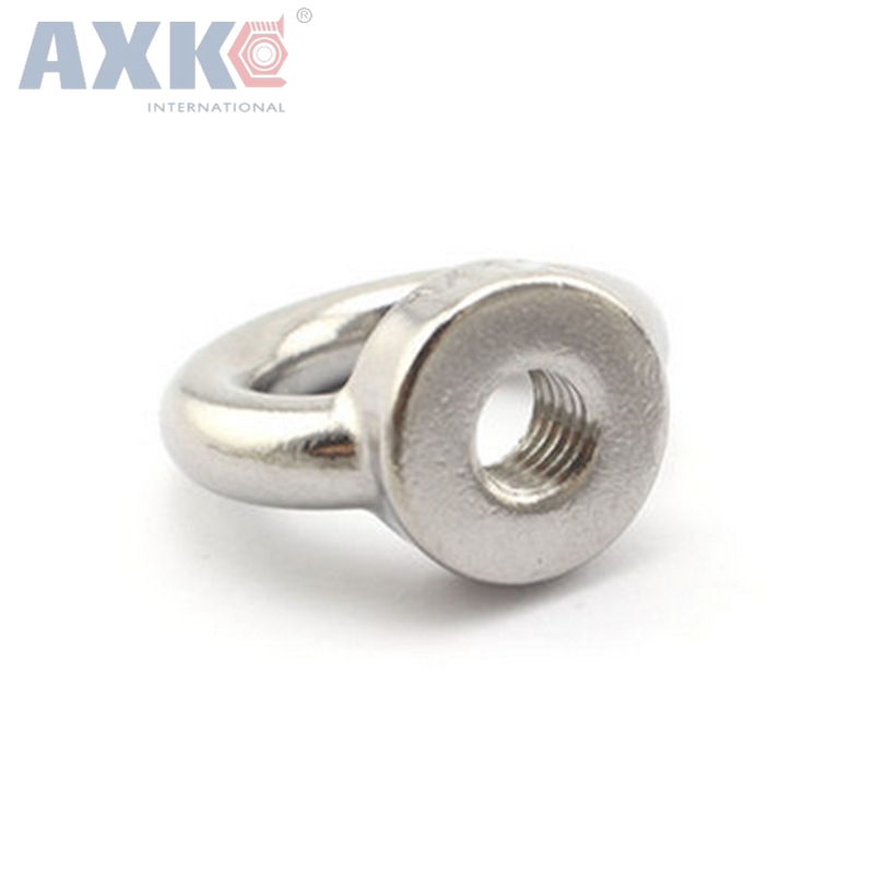 цена на AXK 50pcs/lots M6*12 304 Stainless Steel Lifting Eye Bolts Round Ring Hook Bolt