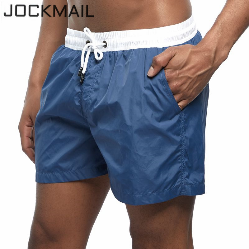 JOCKMAIL Men's   Board     Shorts   Patchwork New Summer Holiday Beach Surf Swimming Trunks Male Sport Athletic Running Gym   Shorts