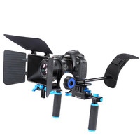 3in1 professional DSLR Camera Rig Shoulder Mount Stabilizer system kit/Follow Focus/Matte Box For Canon Nikon Sony Camera Camcor