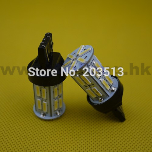 100pcs/lot 2014 new design Auto car led lighting WY21W W21/5W t20 26 smd 7443 26 leds 7014SMD white bulb Free shipping