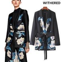 Flétri 2017 automne veste blazer feminino vintage floral impression kimono  shwl écharpes col blazer veste femmes tops plus la ta. d9d2b578cd6