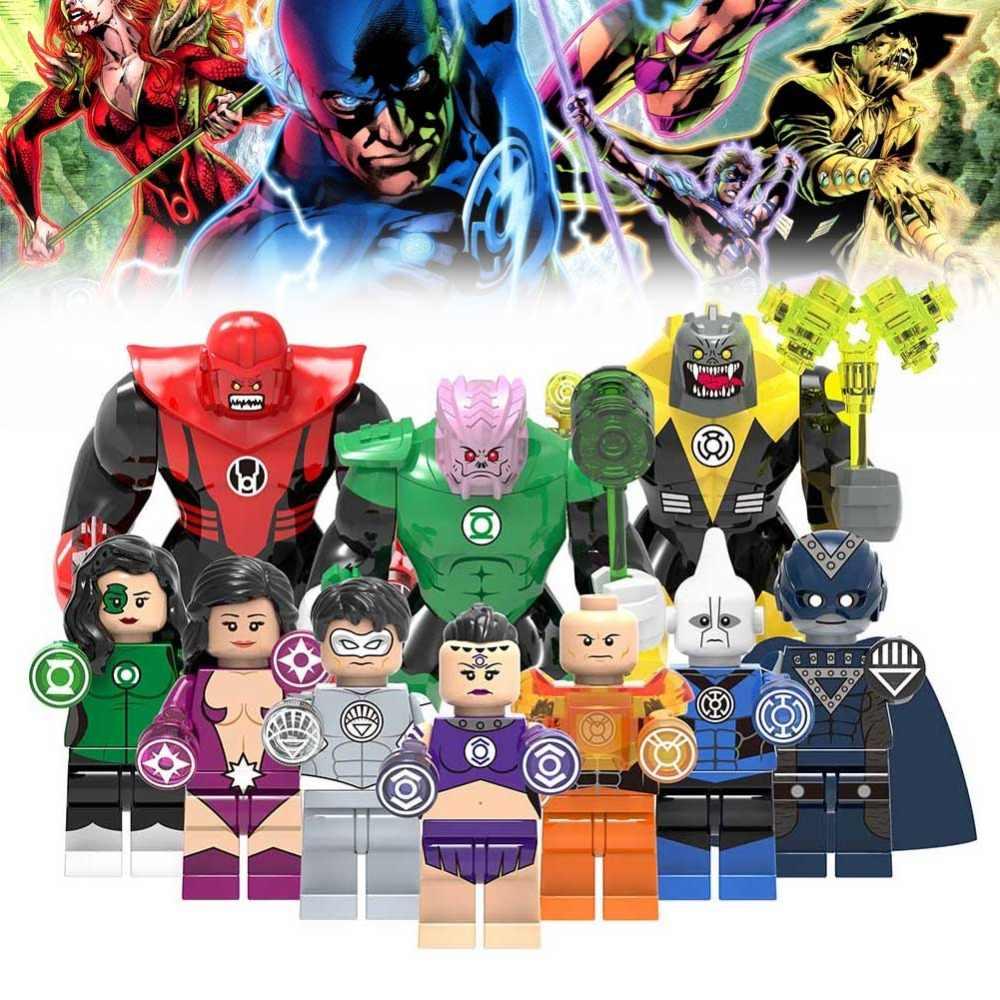 Корпус Фонаря LegoING строительные блоки Супер Герои Зеленый Фонарь Sinestro Atrocitus фигурки LegoING Игрушечные солдатики блоки