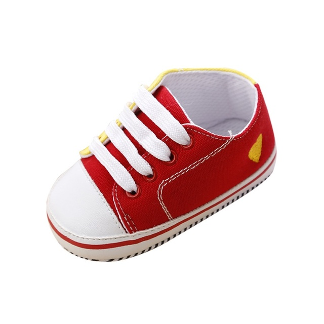 Canvas Baby Shoes Newborn Boys Girls First Walkers Infant Toddler Soft Bottom Anti-slip Prewalker Sneakers 2019 New 0-18 M S2 5