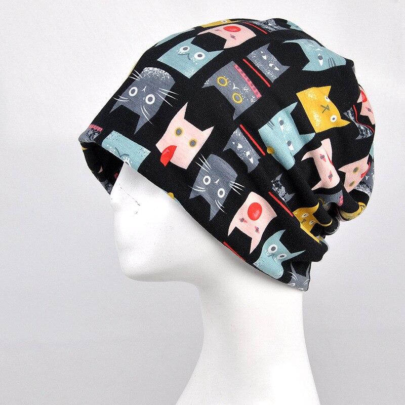 COKK sombreros de invierno para las mujeres patrón de gato gorro de ...
