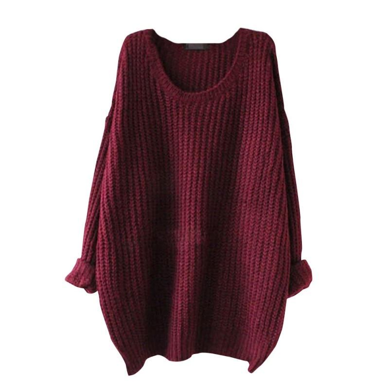 Female Sweater Winter Women O-neck Solid Pullover Sweater Woman Long Selleve Sweater Women Tops