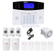 DANMINI Remote Control Voice Prompt Wireless Door Sendor GSM Alarm System 433MH Home Burglar Security Alarm System Free Shipping