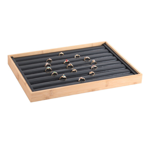 Image 4 - Mordoa New Arrival Bamboo wood Jewelry Display Jewellery Tray Ring Holder Necklaces Organizer Bracelets Showcase Pendants Box