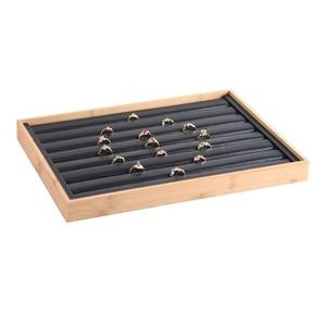 Image 4 - Mordoa הגעה חדשה במבוק עץ תכשיטי תצוגת תכשיטי מגש טבעת מחזיק שרשראות ארגונית צמידי Showcase תליוני תיבה