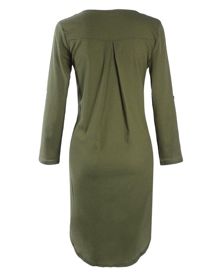 Short Summer Fashion Beach Dress - Long Sleeve Women Casual Dress 4