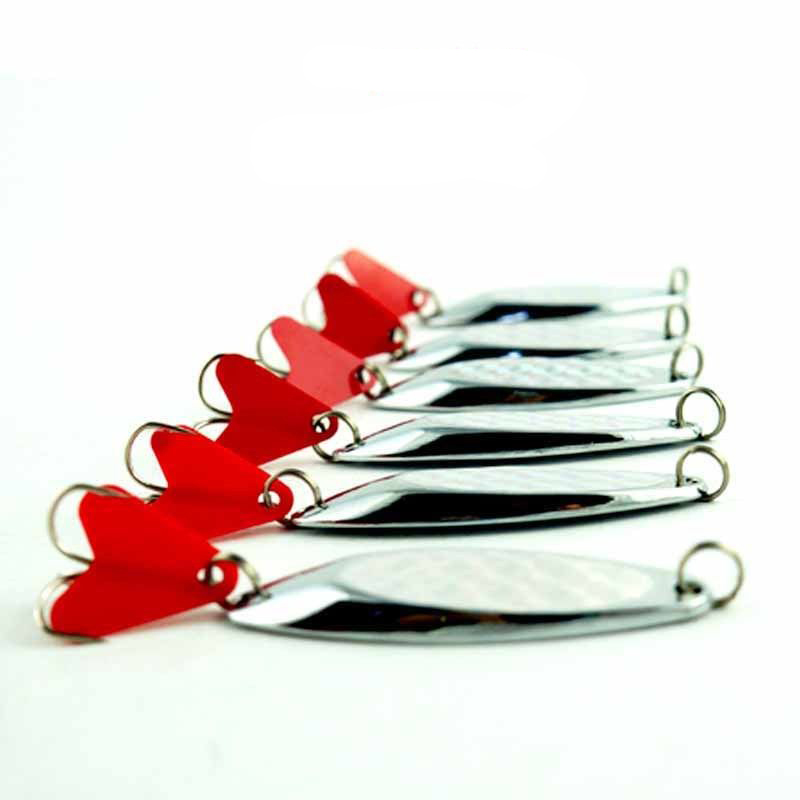 10pcs Hard Metal Jig Fishing Lures China Silver Fishing Spoon Lure Saltwater Spoon Spinner Bait Trout Wobblers For Sea Fishing wldslure 4pcs lot 9 5g spoon minnow saltwater anti hitch crankbait hard plastic plainting fishing lures bait jig wobbler lure