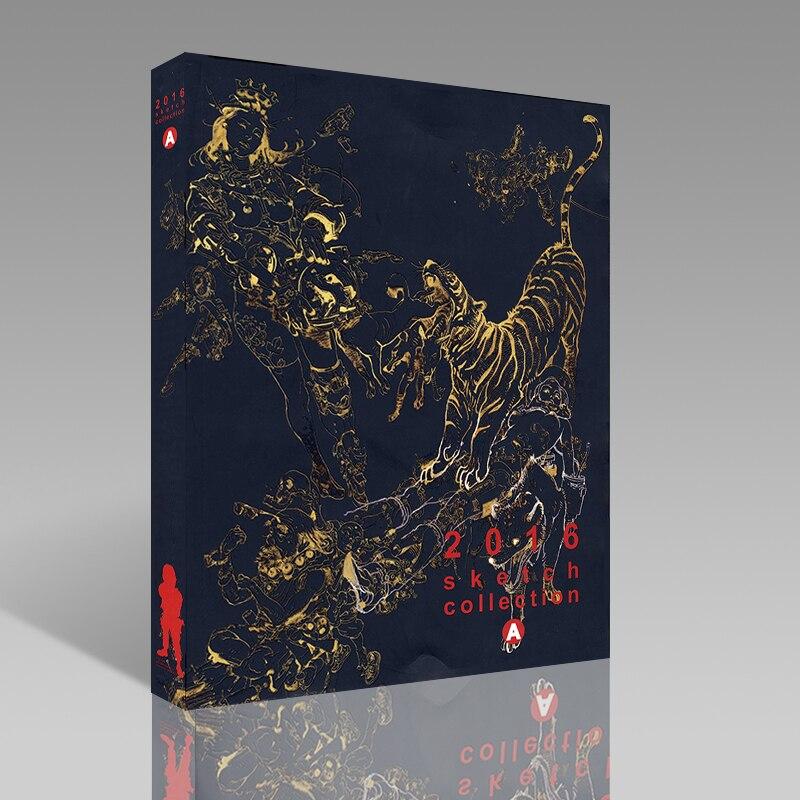 Kim Jung-Gi 2016 Manuscrito Sketch Book Collection Volume UM Kim JungGi Linha Livro de Desenho