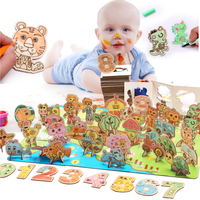 Children's Drawing Game Children's Animals / Numbers / Alphabets Color Painting Puzzles Combination Scenes Multifunctional Toys