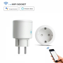 все цены на EU Smart Wifi Plug Power Socket Wireless Remote Control Timer Outlet Wall Smart Socket Power Switch Works with Alexa/Google Home онлайн