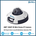 Sunell New HD 1080P 2.0MP Small Dome Network IP Camera POE IR 6M IP65 Multi-language Alarm IR Mini Dome Camera With SD Card Slot