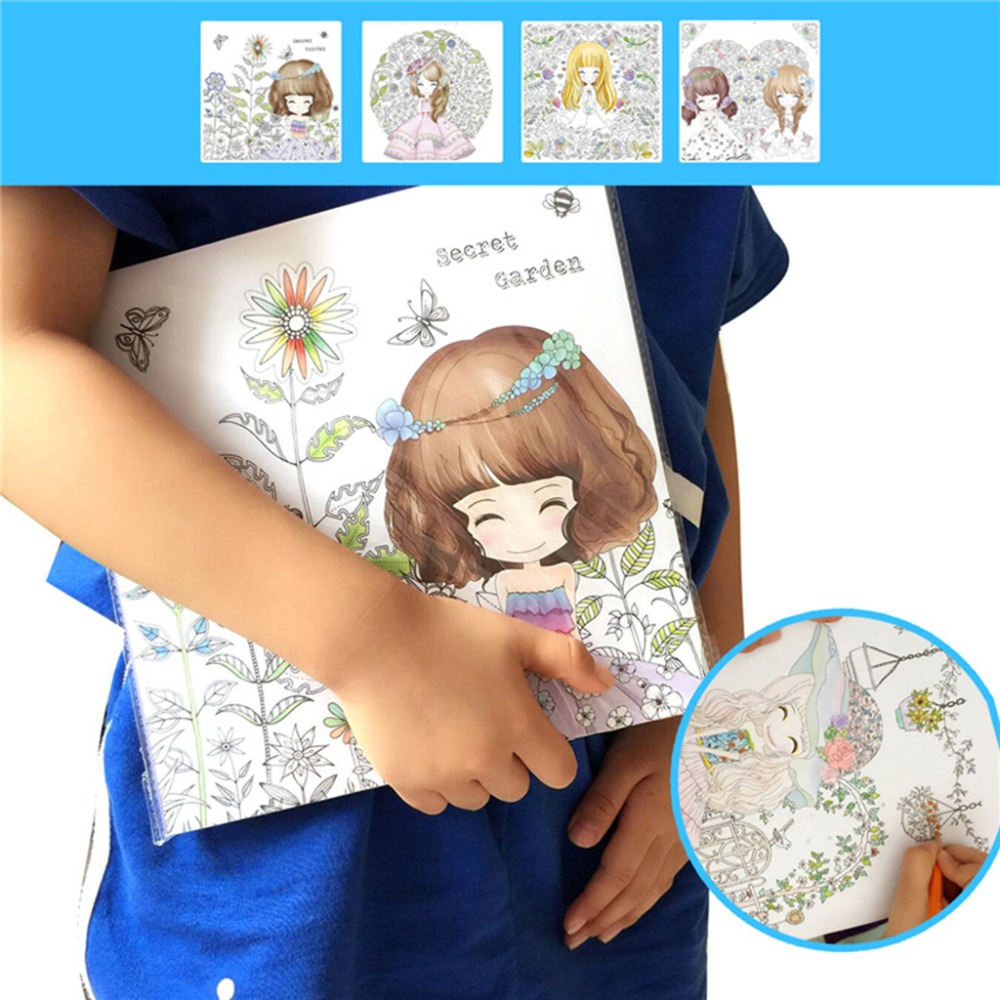 Secret Garden Children Kids Coloring Book Girls Ancient Style Drawing Books Graffiti Painting