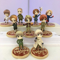 Anime Cartoon Axis Powers PVC Action Figures Collectible Model Toys Keychains 6cm 9pcs/lot