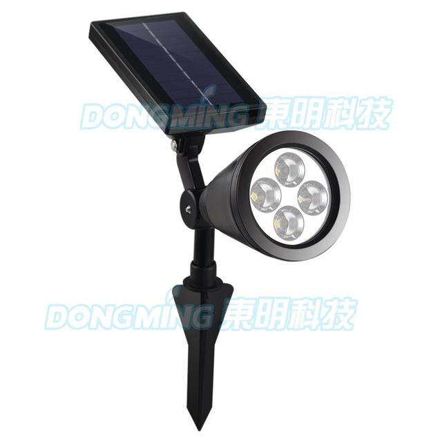 6pcs Auto bright outdoor led solar spotlight light Landscape Garden Driveway Pathway Yard Lawn solar energy exterior lighting