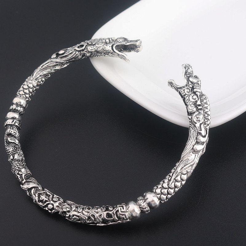 2017 Retro Open Fenrir Dragon Viking Bracelets Bangles For