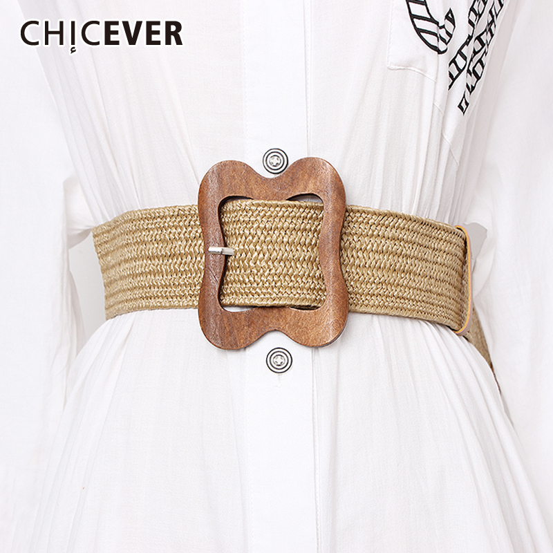CHICEVER Bohemian Style Striped Widely Belts For Women 2020 Summer Vintage Dresses Accessories Fashion New Tide