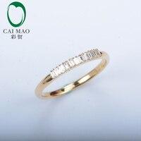Бесплатная доставка Изысканный 0.2ct бриллиантами 14kt желтого золота вечный кольцо ювелирные изделия
