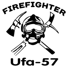 CS-1273#15*15cm firefighter Ufa-57 funny car sticker vinyl decal silver/black for auto car stickers styling cs 1038 15 15cm odal sign funny car sticker vinyl decal silver black for auto car stickers styling car decoration