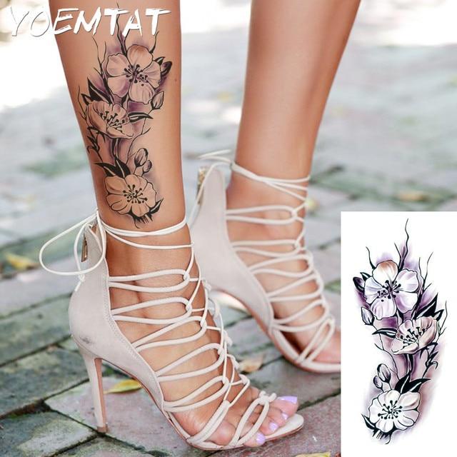 Lifelike raspberry flower arm shoulder tattoo stickers for Henna tattoo process