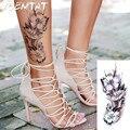 lifelike Raspberry flower arm shoulder tattoo stickers flash henna tattoo fake waterproof temporary tattoos sticker women