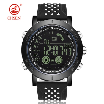New OHSEN Men Smart Wristwatch Pedometers Bluetooth Call reminder Alarm Stopwatch Fashion Outdoor Watch for IOS Android System