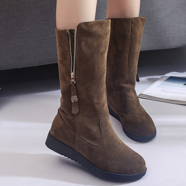 93021a14482 2017 Fashion Female Woman Knee High Boots Flat Heel Motorcycle Women Boots  Autumn Lace Boots Autumn Winter Shoes 20