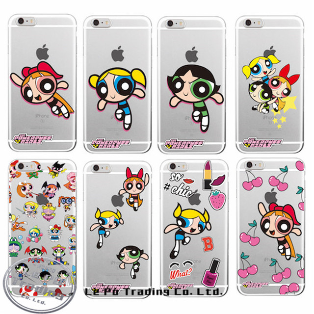 super popular 272a3 36f22 New Hot Selling The PowerPuff Girls Super Power Puff Cartoon Soft Phone  Case For iPhone 6 6S 6Plus 7 7 Plus on Aliexpress.com | Alibaba Group