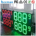 leeman 10inch 8.889 led gas station price with CE Outdoor large 7 segment big led numeric display for gas station price signs