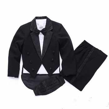 2018 summer Formal Children\'s clothes for boys white/balck baby boys suit kids blazers boy suit for weddings prom 1T-4T