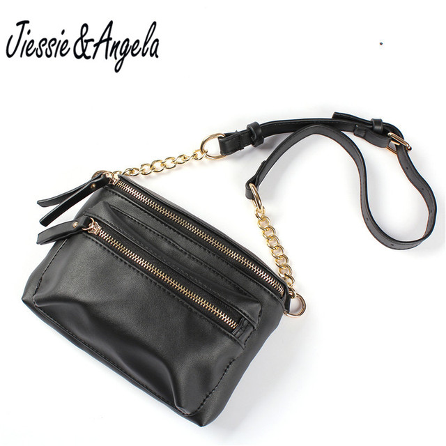 Jiessie & Angela New Arrival Hand Free Bag Women Waist Bags Fashion PU Leather Travel Chest bag Large Capacity For Phone X