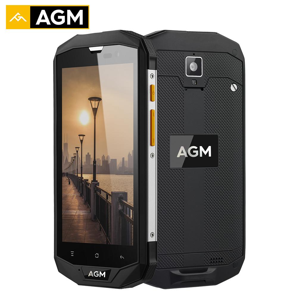 AGM A8 Smartphone 4GB RAM 64GB ROM 5.0 Inches HD Waterproof Phone IP68 Qualcomm MSM8916 Quad Core 13.0MP 4050mAh NFC OTG Phone