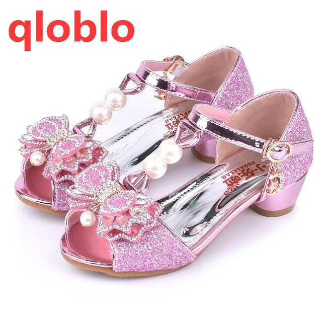 1df5173d98 US $14.69 20% OFF|qloblo 2018 kids butterfly sandals girls shoes child  summer sandals high heels kids princess sandal for children-in Sandals from  ...