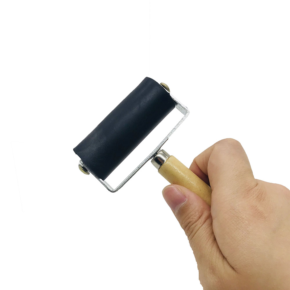 Image 3 - 6cm Ink Painting Printmaking Roller Children'S Engraving Tool Oil Painting Tool Brush Embossing Rubber Roller-in Paint Rollers from Home Improvement